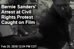 Bernie Sanders' Arrest at Civil Rights Protest Caught on Film