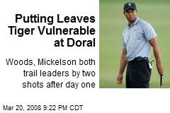 Putting Leaves Tiger Vulnerable at Doral
