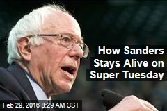 How Sanders Stays Alive on Super Tuesday