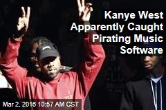 Kanye West Apparently Caught Pirating Music Software