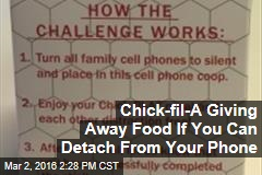 Chick-fil-A Giving Away Food If You Can Detach From Your Phone
