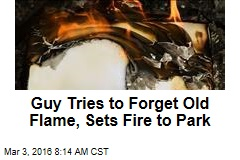 Guy Tries to Forget Old Flame, Sets Fire to Park