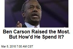 Ben Carson Raised the Most. But How'd He Spend It?