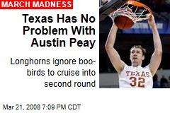 Texas Has No Problem With Austin Peay