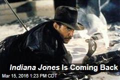 Indiana Jones Is Coming Back