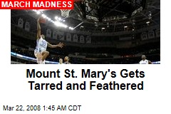 Mount St. Mary's Gets Tarred and Feathered