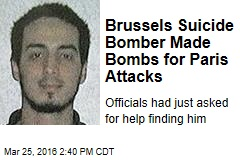 Brussels Suicide Bomber Made Bombs for Paris Attacks