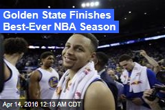 Golden State Finishes Best-Ever NBA Season