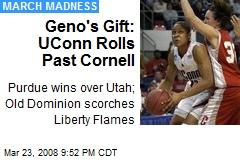 Geno's Gift: UConn Rolls Past Cornell