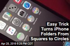 Easy Trick Turns iPhone Folders From Squares to Circles