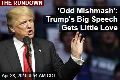 Trump's Big Speech Gets Little Love for 'Odd Mishmash'