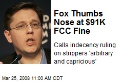 Fox Thumbs Nose at $91K FCC Fine