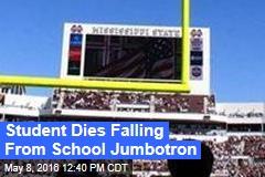 Student Dies Falling From School Jumbotron