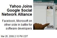 Yahoo Joins Google Social Network Alliance