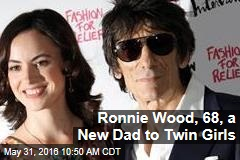 Ronnie Wood, 68, a New Dad to Twin Girls