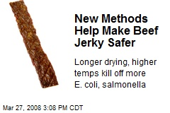 New Methods Help Make Beef Jerky Safer