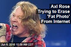 Axl Rose Trying to Erase 'Fat Photo' From Internet