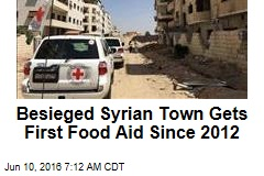Besieged Syrian Town Gets First Food Aid Since 2012