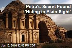 Petra's Secret Found 'Hiding in Plain Sight'