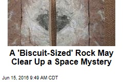 A 'Biscuit-Sized' Rock May Clear Up a Space Mystery