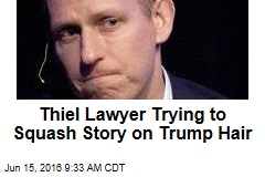 Thiel Lawyer Trying to Squash Story on Trump Hair