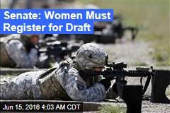 Senate: Women Must Register for Draft
