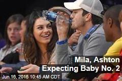 Mila, Ashton Expecting Baby No. 2
