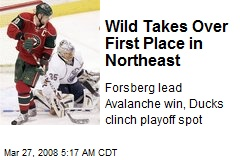 Wild Takes Over First Place in Northeast