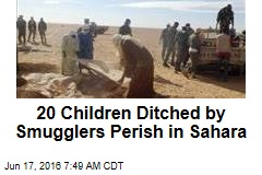 20 Children Ditched by Smugglers Perish in Sahara