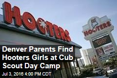 Denver Parents Find Hooters Girls at Cub Scout Day Camp