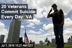 20 Veterans Commit Suicide Every Day: VA