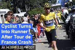 Cyclist Turns Into Runner After Tour de France Crash