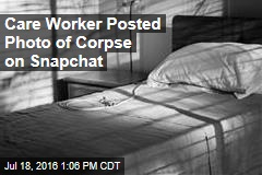 Care Worker Posted Photo of Corpse on Snapchat