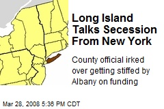 Long Island Talks Secession From New York