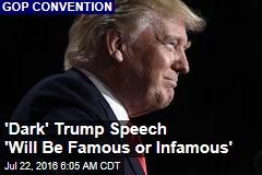 'Dark' Trump Speech Seen as 'Lost Opportunity'
