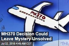 Flight 370 Search to Be Suspended