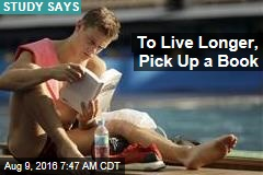 To Live Longer, Pick Up a Book
