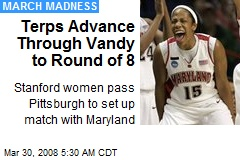 Terps Advance Through Vandy to Round of 8