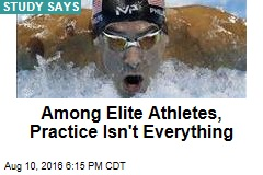 Among Elite Athletes, Practice Isn't Everything