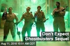 Don't Expect Ghostbusters Sequel