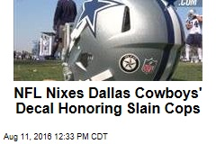 NFL Nixes Dallas Cowboys' Decal Honoring Slain Cops