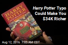 Single Harry Potter Typo Could Be Worth $34K
