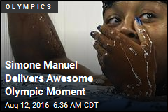 Simone Manuel's Reaction to Gold Is Irresistible