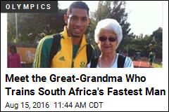 Meet the Great-Grandma Who Trains South Africa's Fastest Man