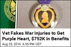 DOJ: Vet's Purple Heart Lies Cost Government $752K