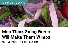 Men Think Going Green Will Make Them Wimps