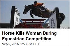 Woman Crushed by Horse During Equestrian Competition
