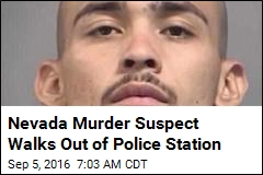 Nevada Murder Suspect Walks Out of Police Station