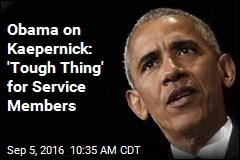Obama on Kaepernick: Speaking Up 'Constitutional Right'