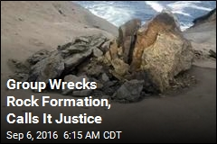 Group Caught on Tape Wrecking Rock Formation